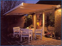 Easy to open patio awning